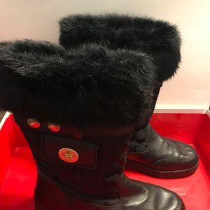 comfortable black  sexy snow boots